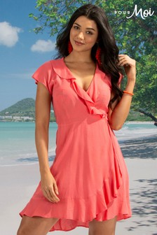 Pour Moi Santa Monica Beach Wrap Dress