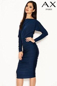 fc9ddf87144f3 AX Paris Ruched Slinky Midi Dress
