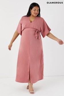 Glamorous Curve Pink Maxi Dress