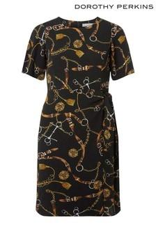 Dorothy Perkins Petite Belt Print Dress