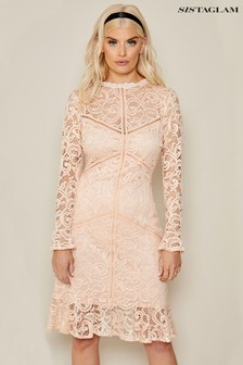 Sistaglam Lace Long Sleeve Dress