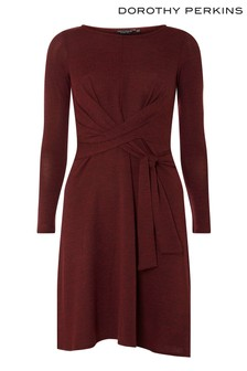 Dorothy Perkins Knot Brushed Dress