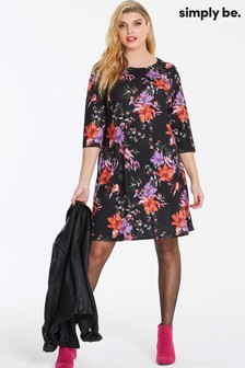 Simply Be Curve floral Swing Dress