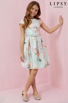 Lipsy Girl Floral Jacquard Dress