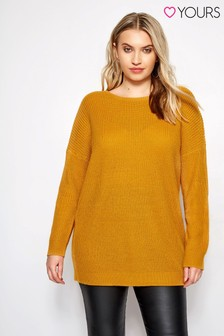 Yours Lace Up Back Jumper