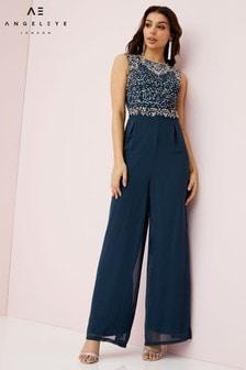 Angeleye Embellished Belted Jumpsuit