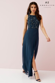 Angeleye Embellished Wrap Skirt Dress