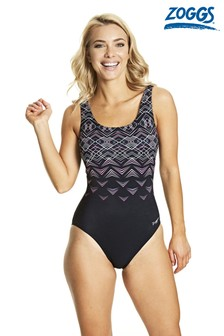 Zoggs Electric Scoop Back Swimsuit