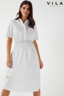 Vila Midi Shirt Dress