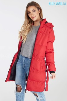 Blue Vanilla Padded Parka Coat