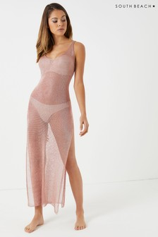 South Beach Knit Low Back Beach Maxi Dress