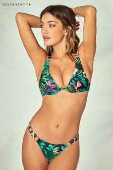 South Beach Leaf Print Monowire Bikini Set