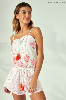 South Beach Block Print Playsuit