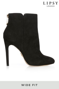 Lipsy Wide Fit Almond Toe Ankle Boot