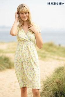 Brakeburn Lemon Wrap Dress
