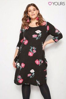 Yours Carnation Drape Pocket Dress