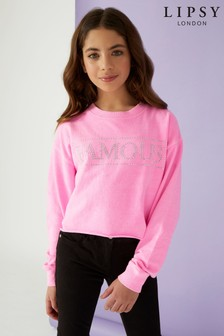 Lipsy Girl 'Famous' Neon Sweat Top