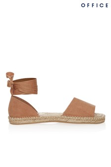 Office Tie Up Ankle Strap Espadrille