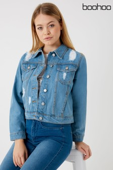 Boohoo Distressed Denim Jacket