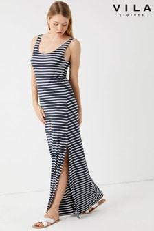 Vila Striped Maxi Dress
