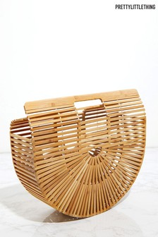 PrettyLittleThing Small Wooden Structure Clutch Bag