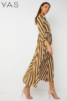Y.A.S Zig Zag Long Shirt Dress