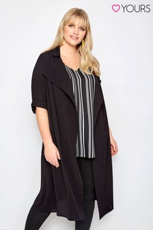 Yours Roll Sleeve Duster Jacket