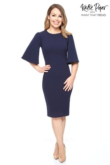 Want That Trend Flare Sleeve Bodycon Dress