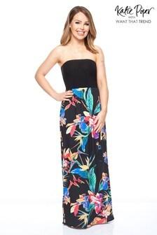Want That Trend Bandeau Contrast Maxi Dress