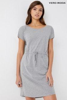 Vero Moda Short Sleeve Drawcord Dress