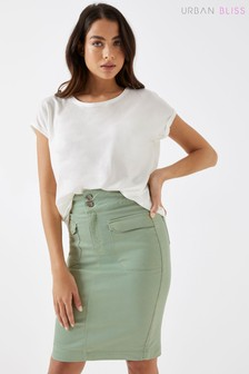 Urban Bliss Georgette Denim Twill Pencil Skirt