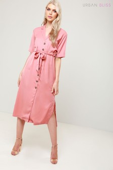 Urban Bliss Button Down Midi Dress