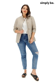 Simply Be Curve Linen Utility Jacket