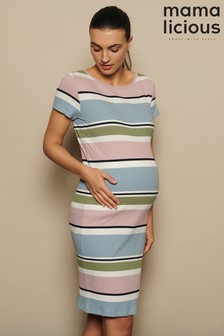 Mamalicious Maternity Striped Jersey Dress