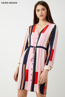 Vero Moda Petite Long Sleeve Shirt Dress