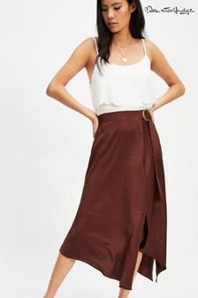 Miss Selfridge Leopard Jacquard D Ring Skirt