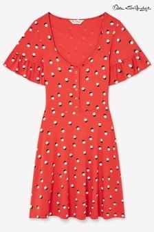 Miss Selfridge Floral Frill Sleeve Tea Dress