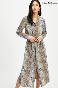 Miss Selfridge Snake Print Shirt Dress