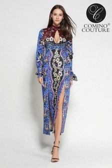 Comino Couture Mosaic Keyhole Dress