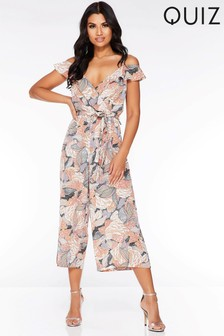 Quiz Abstract Culotte Jumpsuit