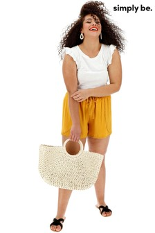 Simply Be Wrap Lace Trim Shorts