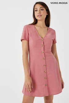 Vero Moda Petite Linen Blend Midi Summer Dress