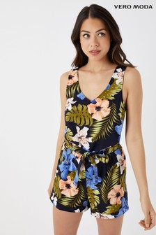 944a50232c Vero Moda Petite Tropical Print Sleeveless Playsuit