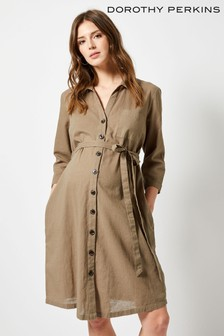 Dorothy Perkins Maternity Button Front Shirt Dress