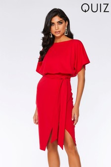 Quiz Tie Belt Midi Dress
