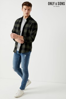 Only & Sons Distressed Mid Wash Jeans