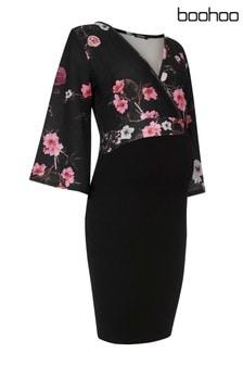 Boohoo Maternity Kimono Sleeve Mini Dress