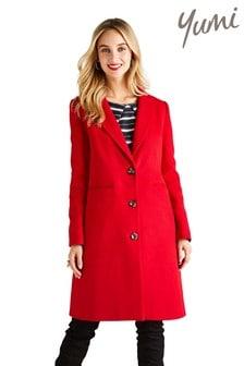 Yumi Button Feature Crombie Coat