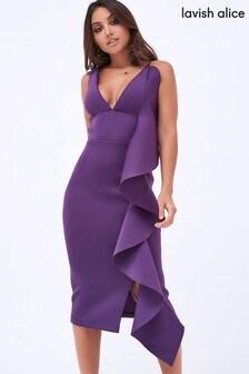 Lavish Alice Frill Midi Dress