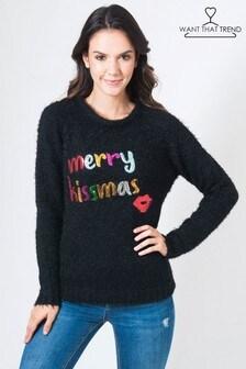 Want That Trend Merry Kissmas Jumper